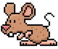 Rat. Vector illustration of cartoon rat - Pixel design Stock Images