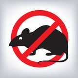 Rat warning sign. Royalty Free Stock Photos