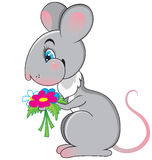 Rat With A Flowers Royalty Free Stock Photo