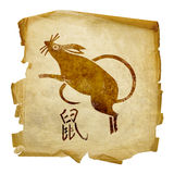 Rat Zodiac icon Royalty Free Stock Photography