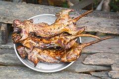 Rata asada a la parrilla del campo del arroz Imagen de archivo libre de regalías