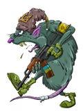 Rata con un Kalashnikov Foto de archivo libre de regalías