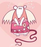 Rata del ángel de la tarjeta del día de San Valentín Fotos de archivo