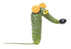 Rata divertida hecha de verduras Imagenes de archivo