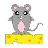 Rata en el queso Foto de archivo libre de regalías