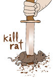 Rata kill  Royalty Free Stock Images