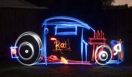 Rata Rod Light Painting Image Fotografía de archivo