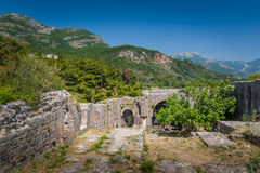 Ratac abandoned fortress walls. Royalty Free Stock Images