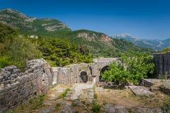 Ratac a abandonné des murs de forteresse Images libres de droits