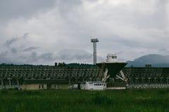 RATAN-600 Big radio telescope. SAO RAS. Zelenchukskaya, Karachay-Cherkessia, Russia royalty free stock images