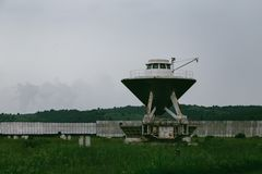 RATAN-600 Big radio telescope. SAO RAS. Zelenchukskaya, Karachay-Cherkessia, Russia stock photography
