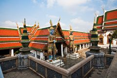 Ratana Chedi in the Grand Palace Royalty Free Stock Photo
