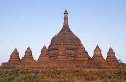 Ratanabon stupa在Mrauk U,缅甸Rakhine状态  免版税库存照片