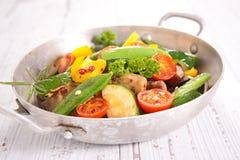 Ratatouille, τηγανισμένα λαχανικά Στοκ Φωτογραφία