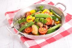 Ratatouille, τηγανισμένα λαχανικά Στοκ εικόνα με δικαίωμα ελεύθερης χρήσης