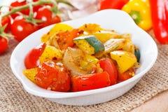 Ratatouille - φρέσκα ψημένα λαχανικά Στοκ εικόνες με δικαίωμα ελεύθερης χρήσης