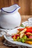 Ratatouille на деревенской таблице Стоковые Фотографии RF