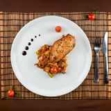 Ratatouille chicken breast Stock Images