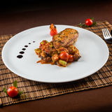Ratatouille chicken breast Royalty Free Stock Image
