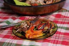 Ratatouille with chicken Stock Photo