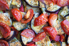 Ratatouille. Closeup of ratatouille baked in oven stock images