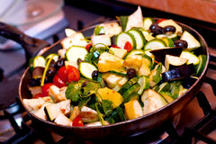 Ratatouille cooking closeup Stock Photo