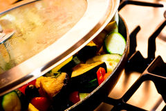 Ratatouille cooking closeup Stock Photography