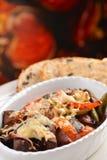 Ratatouille cozeu no forno imagem de stock