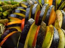 Ratatouille - de traditionele Franse plantaardige die schotel van Provencal in oven wordt gekookt Voedsel van de dieet het vegeta stock foto's