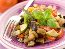 Ratatouille on dish Stock Images