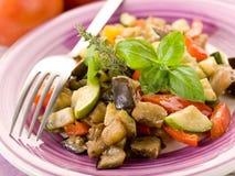 Ratatouille on dish Stock Images