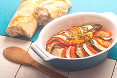 Ratatouille in a dish , casserole. Royalty Free Stock Photo