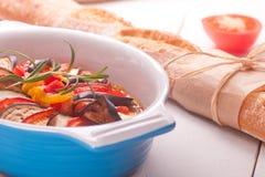 Ratatouille in a dish , casserole. Stock Photos