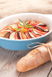 Ratatouille in a dish , casserole. Royalty Free Stock Image