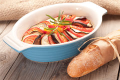 Ratatouille in a dish , casserole. Stock Images