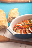 Ratatouille in a dish , casserole. Royalty Free Stock Images