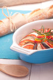 Ratatouille in a dish , casserole. Royalty Free Stock Photography