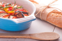 Ratatouille in a dish , casserole. Royalty Free Stock Photos