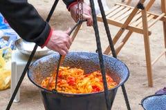 Ratatouille em um caldeirão Imagem de Stock