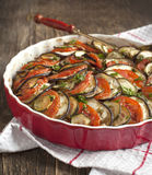 Ratatouille. Famous French dish from Provence. Ratatouille. Vegetable gratin. Famous French dish from Provence Royalty Free Stock Photography
