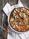 Ratatouille. Famous French dish from Provence. Ratatouille. Vegetable gratin. Famous French dish from Provence Royalty Free Stock Images