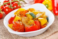 Ratatouille - fresh roasted vegetables Royalty Free Stock Images
