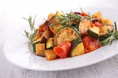 Ratatouille, fried vegetables Royalty Free Stock Photo