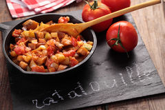 Ratatouille in an iron pan Stock Images