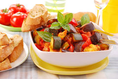 Ratatouille for lunch Stock Photos