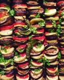 ratatouille met gebakken vlees Royalty-vrije Stock Afbeeldingen