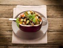 Ratatouille over  eggplant Royalty Free Stock Photography