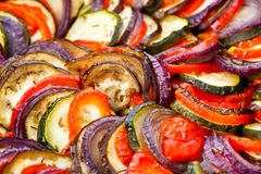 Ratatouille in a pan Royalty Free Stock Images