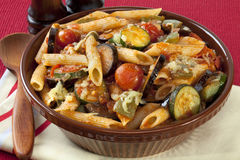 Ratatouille Pasta Bake. Pasta Bake with Ratatouille Royalty Free Stock Images