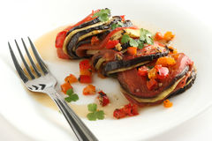 Ratatouille on a plate Royalty Free Stock Photo